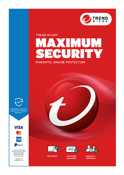 Provided Trend Micro Maximum Security 12 2019-1 Year 3 Devices Computers/tablets & Networking Antivirus & Security